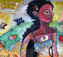 Black Girl with Butterflies by Rochele Royster