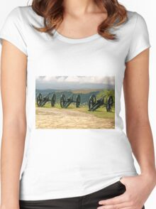 Guns and Flowers, Shipka, Bulgaria Women's Fitted Scoop T-Shirt