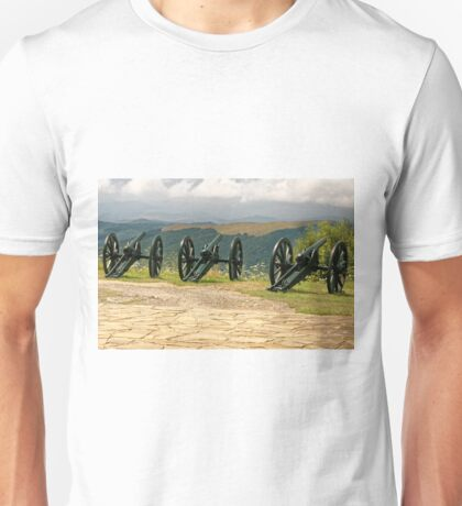 Guns and Flowers, Shipka, Bulgaria Unisex T-Shirt