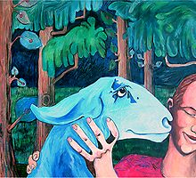 Girl and Goat by Rochele Royster