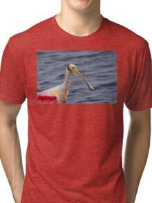 Spoonbill Portrait Tri-blend T-Shirt