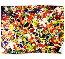 Colorful Abstract Painting Original Art on Canvas Titled: Painting Dance Party Poster