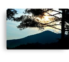 sunrise in the great smoky mountains Canvas Print