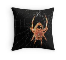 Web Spinner Throw Pillow
