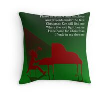 I'll be home for Christmas - C.Card Throw Pillow