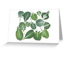 We're eating these wonderful collard greens... Greeting Card