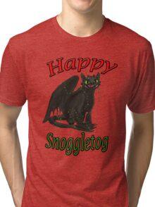 Toothless - Happy Snoggletog Tri-blend T-Shirt