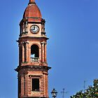 Italian Church Bell Tower at the City of Bra Piedmonte by MaluC
