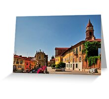 City of Bra in the Piedmont Italy Greeting Card
