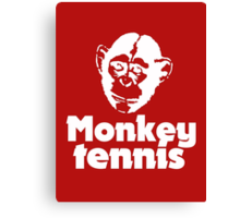Monkey Tennis Canvas Print