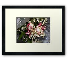 Dried roses to remember the special memories in your life..... Framed Print