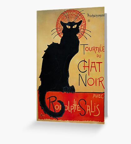 'Tournee du Chat Noir' by Theophile Steinlen (Reproduction) Greeting Card