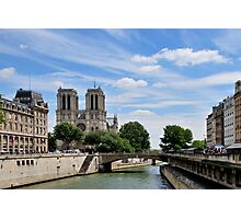 Parisian View Seine River Photographic Print
