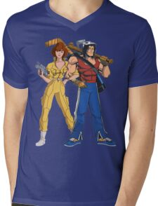 HIT IN THE FACE, RECORD THE ILLEGALITY, AND LOVE EACH OTHER. Mens V-Neck T-Shirt