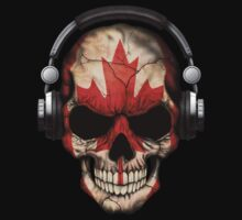 Dj Skull with Canadian Flag T-Shirt