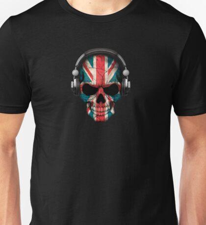 Dj Skull with British Flag Unisex T-Shirt