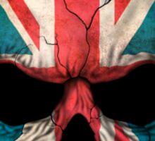 Dj Skull with British Flag Sticker