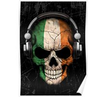 Dj Skull with Irish Flag Poster