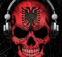 Dj Skull with Albanian Flag by Jeff Bartels