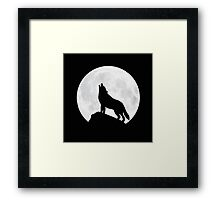 Howling Wolf - Moon Framed Print