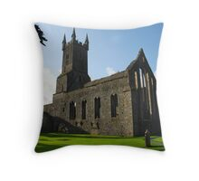Ennis Friary, Ireland Throw Pillow