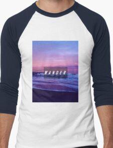 The Wanderlust Is Real  Men's Baseball ¾ T-Shirt