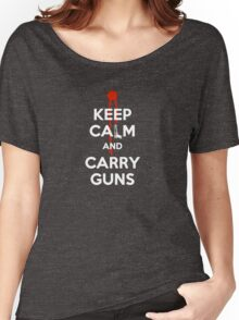 Keep Calm and Carry Guns Women's Relaxed Fit T-Shirt