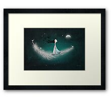 Wherever the wind takes me Framed Print