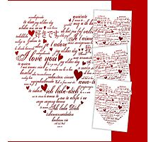 Red Words of Love Designer Art Photographic Print