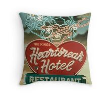 HeartBreak Hotel Throw Pillow