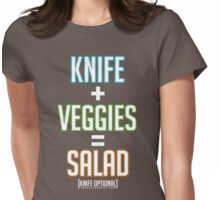 Salad Math Womens Fitted T-Shirt