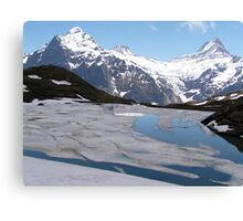 Bachalpensee with Fiescherhornen in the background, Switzerland Canvas Print