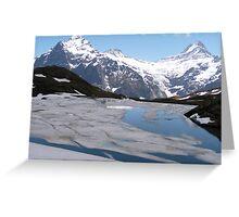 Bachalpensee with Fiescherhornen in the background, Switzerland Greeting Card