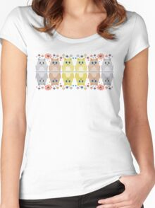 CATS, FLOWERS & BAUBLES Women's Fitted Scoop T-Shirt