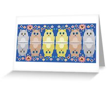 CATS, FLOWERS & BAUBLES Greeting Card