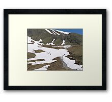 Hiking in Switzerland Framed Print