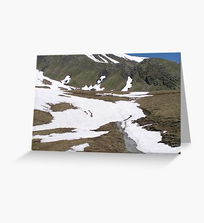 Hiking in Switzerland Greeting Card