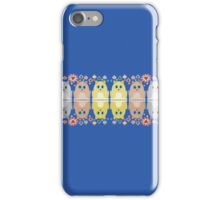 CATS, FLOWERS & BAUBLES iPhone Case/Skin