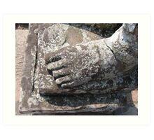 buddhas foot Art Print