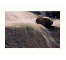 Water over rocks Art Print