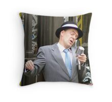 Old Blue Eyes Is Back Again Throw Pillow