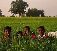 Boys in the grass - India by chrisfx