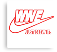 WWE Just Blew It. (Red Outline, White Inside) Metal Print