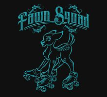 Fawn Squad - teal Womens Fitted T-Shirt