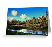 River Itchin, Nr. Tun Bridge Greeting Card