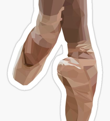 low poly pointe shoes Sticker