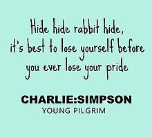 Charlie Simpson Young Pilgrim by Kyle Bonnett