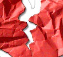 Broken Paper Heart v1 Sticker