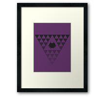 Dark Triforce Framed Print