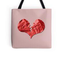Broken Paper Heart v1 Tote Bag